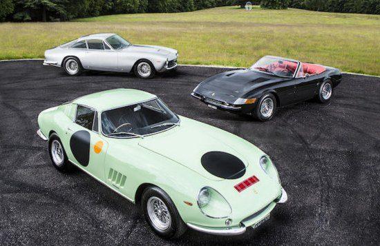 Chris Evans laat 13 auto's veilen, incl. 6 Ferrari's