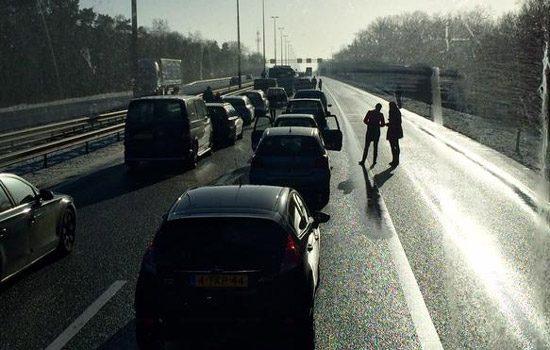 Kettingbotsing op de A50 bij Arnhem