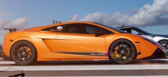 Dragrace! Gallardo met dubbele turbo vernedert Veyron