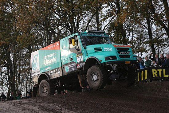 Hans Stacey tijdens de Dakar Preproloog in Valkenswaard