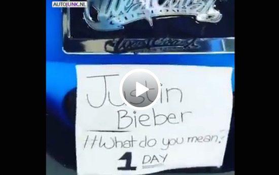 Justin Biebers Ferrari 458 klinkt beter dan zijn muziek