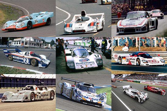Kies maar: negen keer Porsche op Le Mans