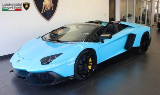 kopen maar babyblauwe lambo aventador 50 anniversario. Black Bedroom Furniture Sets. Home Design Ideas