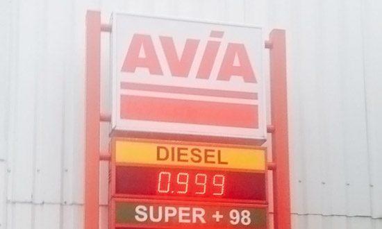 De prijs van een Belgische liter diesel