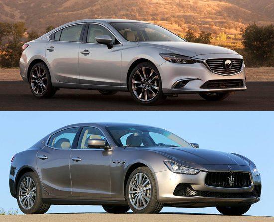 Mazda versus Maserati