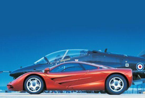McLaren F1 + jet