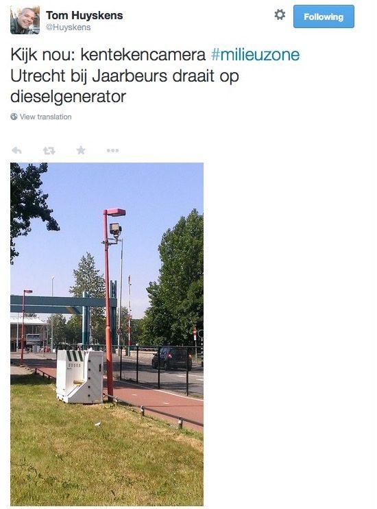 Utrechtse milieuzone draait op dieselgenerator