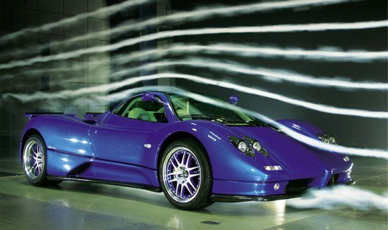 Pagani Zonda in de windtunnel