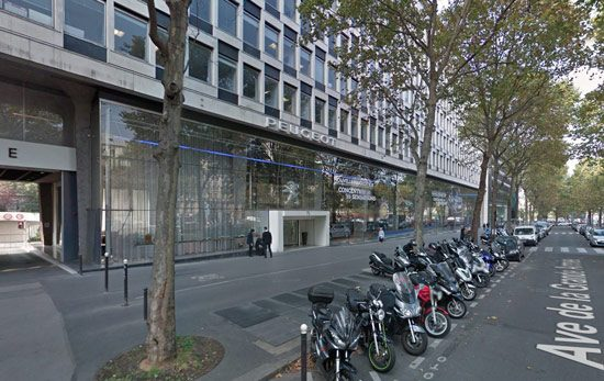 PSA Hoofdkantoor Parijs