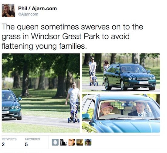 Bejaarde (89) rijdt als een aso over het gras