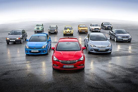 Opel Kadett en Astra