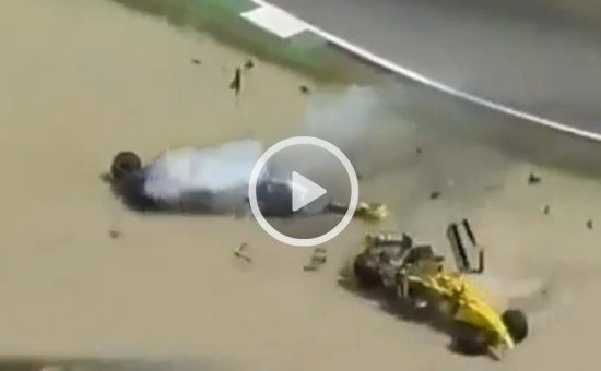 Heidfeld Sato crash