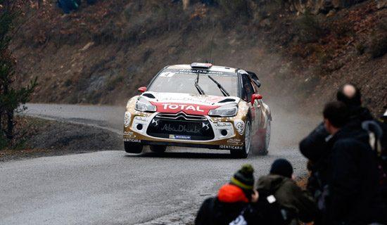 Sebastién Loeb geeft zijn DS3 WRC de sporen