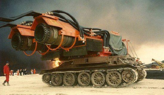 Tank met straalmotoren