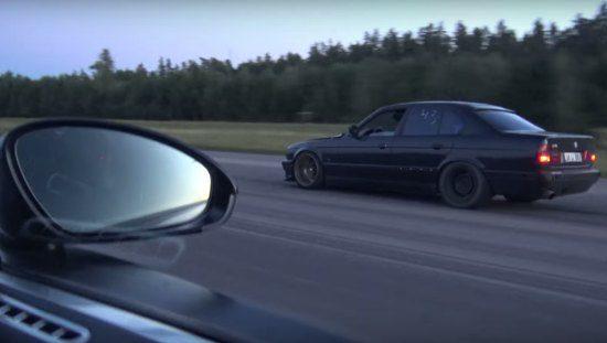 Video: getunede E34 M5 vernedert Nederlandse Veyron