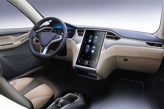 Interieur auto  Je raadt nooit in welke auto dit Tesla-interieur zit – Autoservice ...