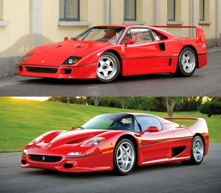 Ferrari F40 en F50