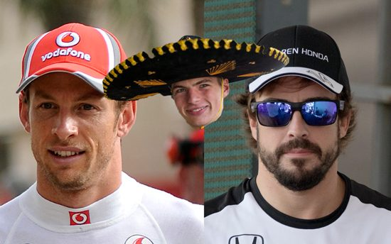 Max vs Alonso en Button