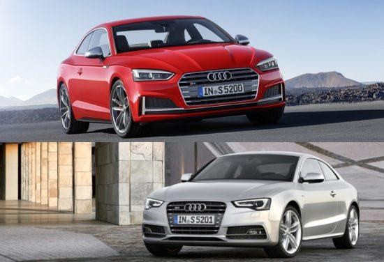 Vergelijkingen: de nieuwe Audi A5 versus de oude