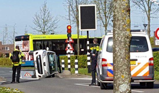 Vrouw in Peugeot 107 vs bussluis te Hoofddorp: 0-1