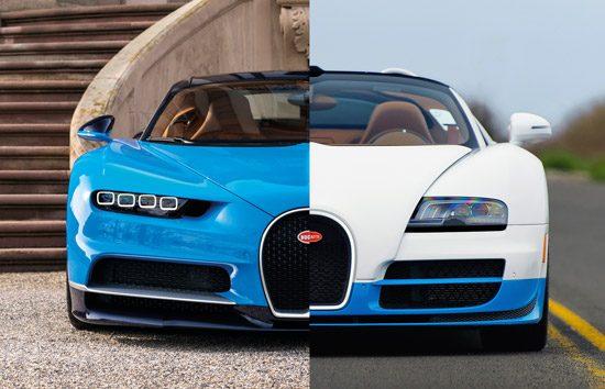 bugatti chiron vs veyron de overeenkomsten en verschillen. Black Bedroom Furniture Sets. Home Design Ideas