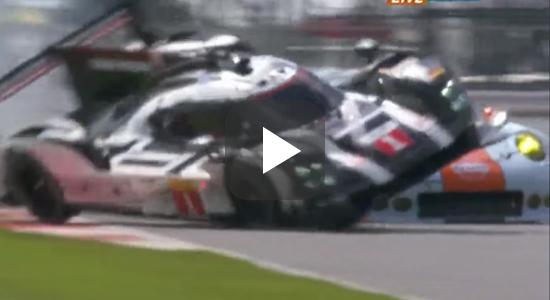 Crash 919 vs 911 RSR Silverstone