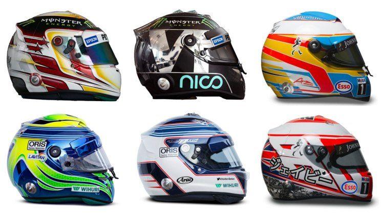 Wat je moet weten over helmen van F1-coureurs