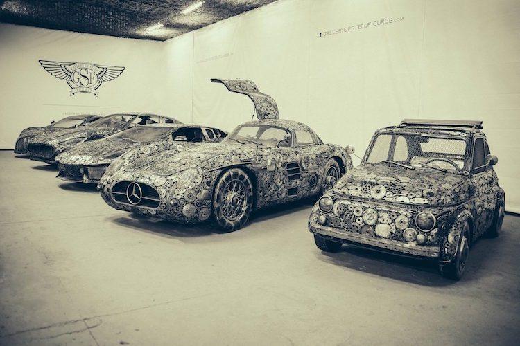 Kunstenaars toveren afval om tot supercars