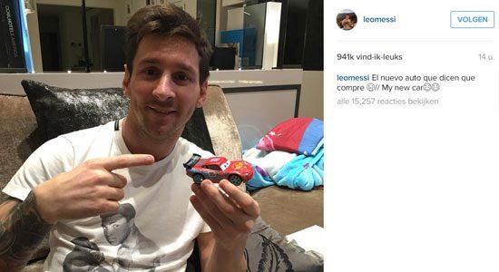 Lionel Messi doet grappig