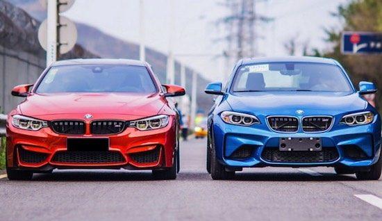 BMW M4 vs BMW M2