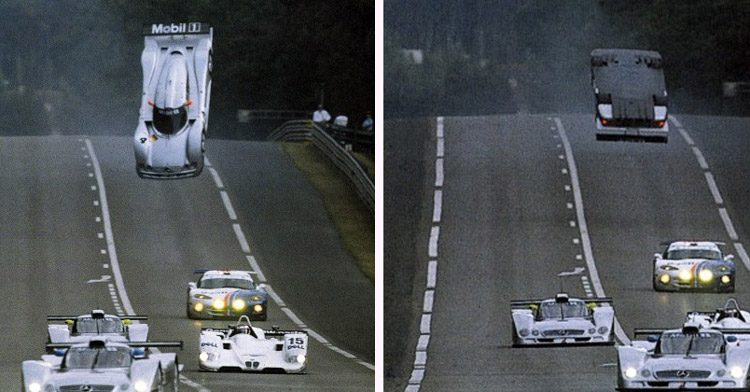 Mark Webber crash op Le Mans