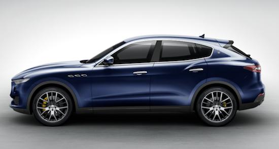 Maserati levante colors