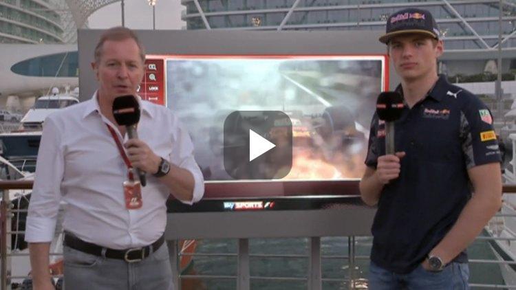 Video: Max en Brundle praten na over De Race