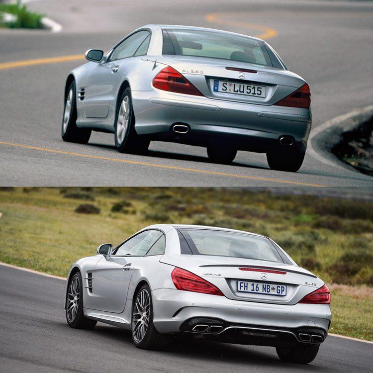 Mercedes SL deelt zijn dak