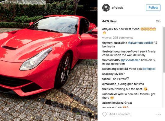 Nieuwe Ferrari Afrojack