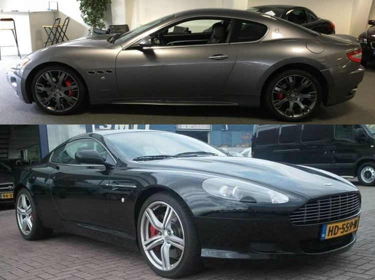 Occasion kies maar: Maserati GranTurismo of Aston DB9