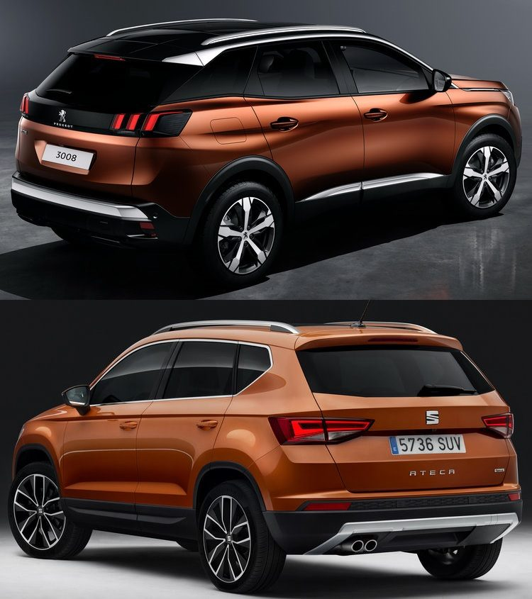 lease maar peugeot 3008 of seat ateca. Black Bedroom Furniture Sets. Home Design Ideas