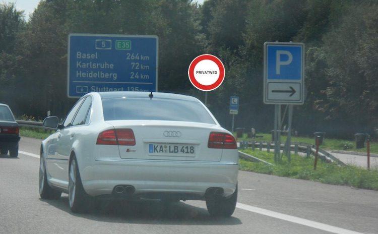 Audi-A8-privatweg-autobahn