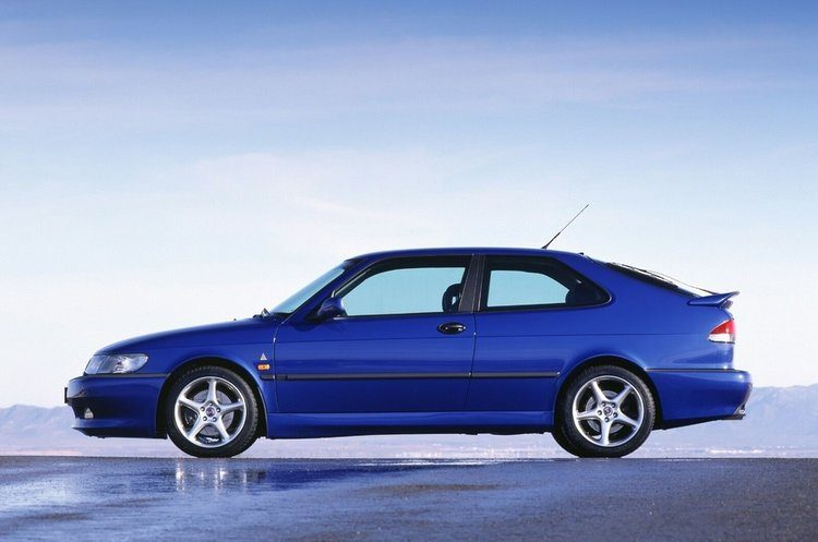 Saab 9-3 Coupe, Lightning Blue