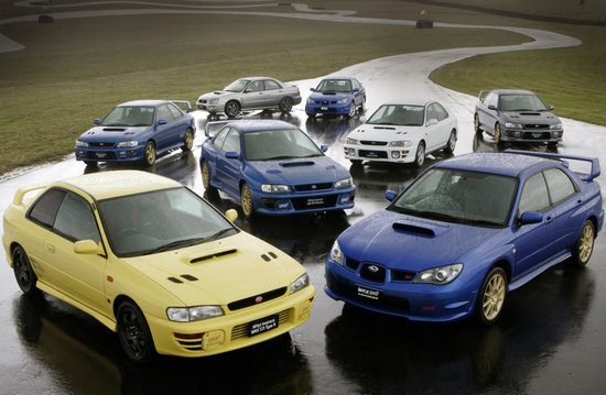 Imprezas. Imprezas everywhere!