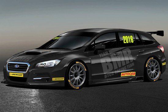 Met deze racer neemt Subaru deel aan het BTCC