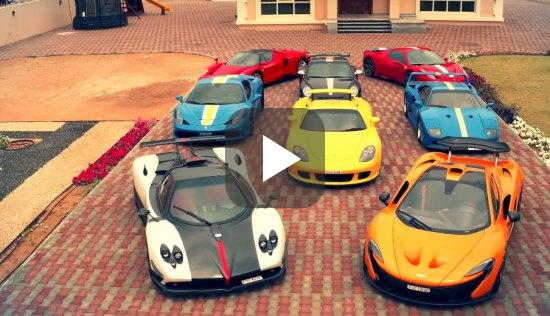 Mexicaan test bizarre supercarverzameling in Dubai