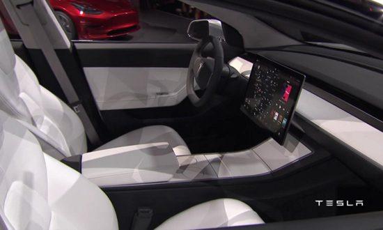 Tesla model 3 de langverwachte elektro instapper is for Interieur tesla model s
