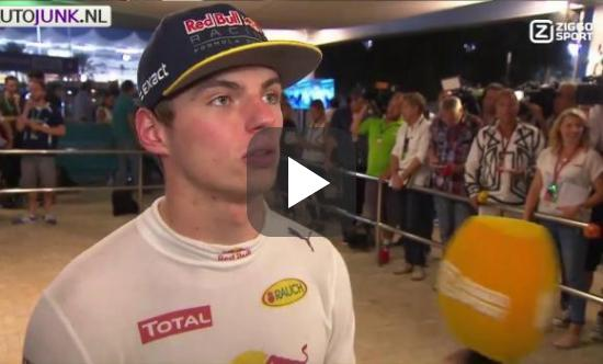 Max Verstappen post Race