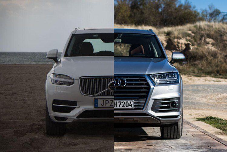 Lease maar: Volvo XC90 T8 of Audi Q7 e-tron