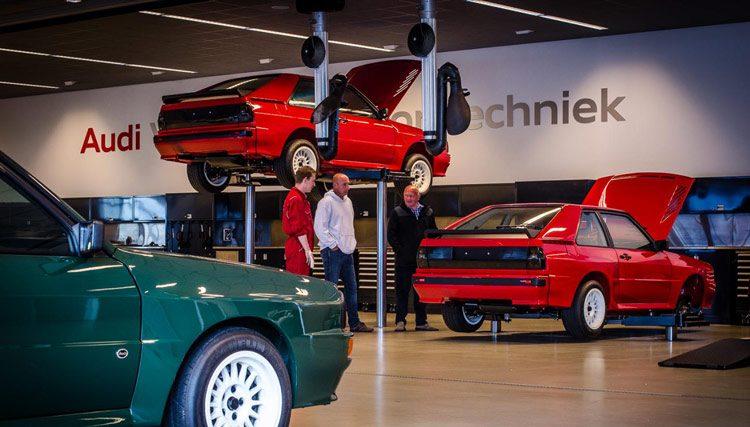 Audi Sport Quattro in de garage