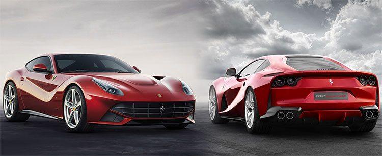 Vergelijking Ferrari F12berlinetta Vs 812 Superfast