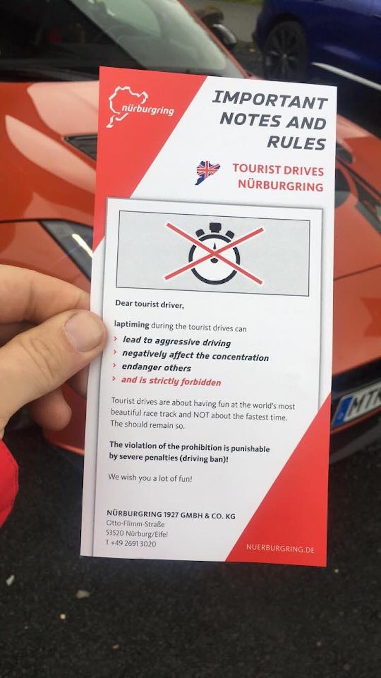 Nürburgring verbiedt tijdritten tijdens touristenfahrten