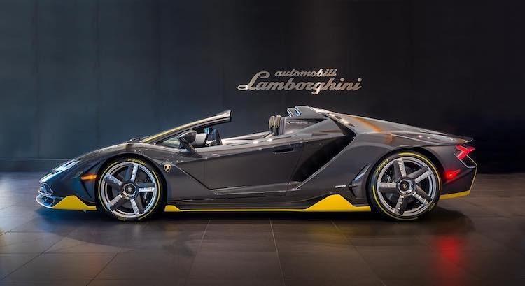 Eerste Lamborghini Centenario Roadster zet voet aan wal