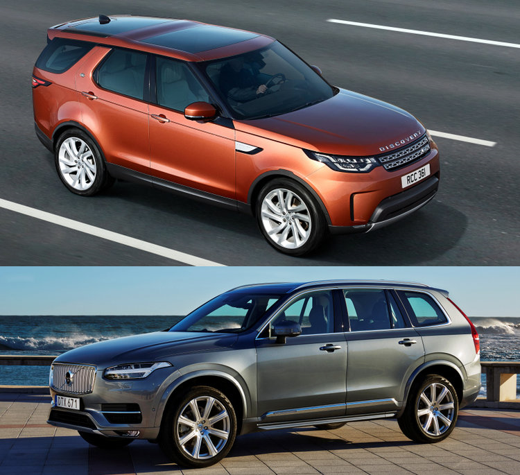 Lease Maar: Land Rover Discovery Of Volvo XC90